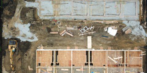Park Terrace Row Homes Mt. Prospect under construction