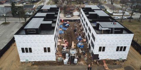 Park Terrace Row Home Mt. Prospect Under Construction -ready for windows