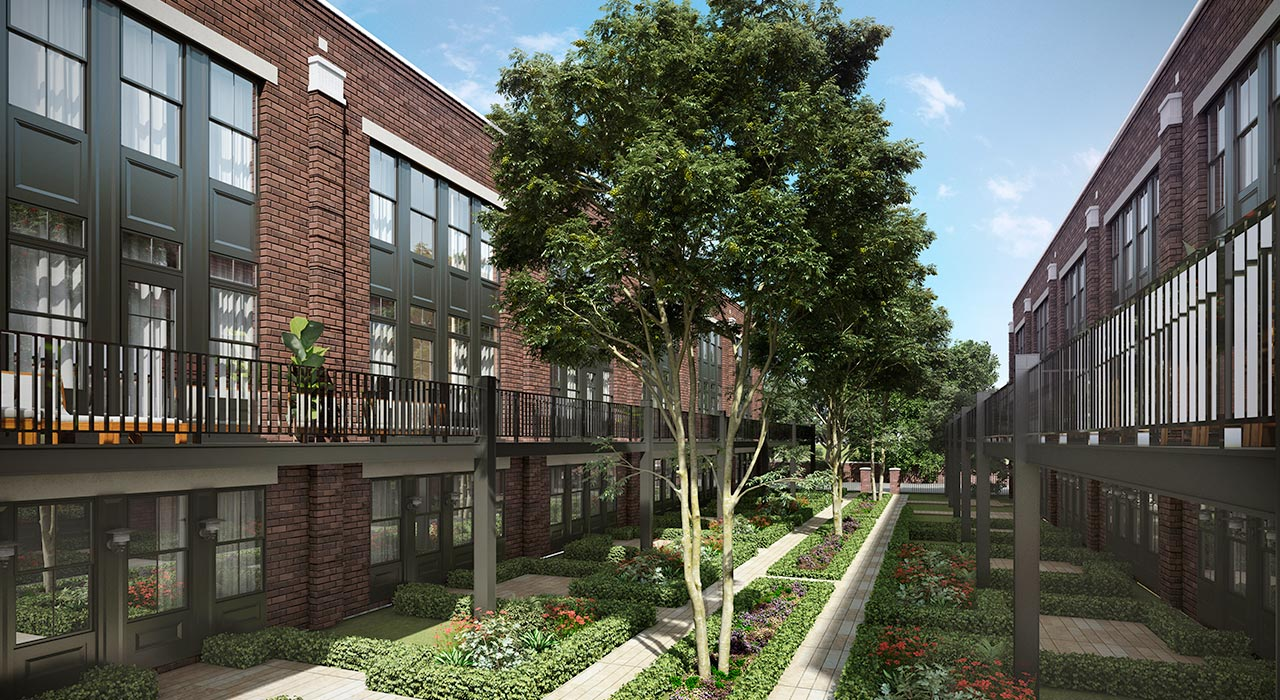 Park Terrace Row Homes Mount Prospect courtyard